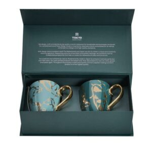 Mug Set Carp & Goldfish, Green & Blue, 380ml, 2pc giftbox