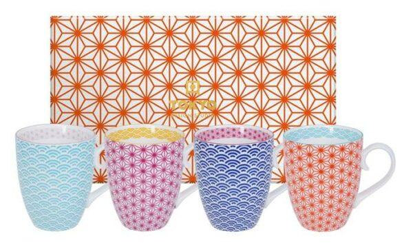 Star/Wave Mug Set 4-pcs, 380ml, giftbox