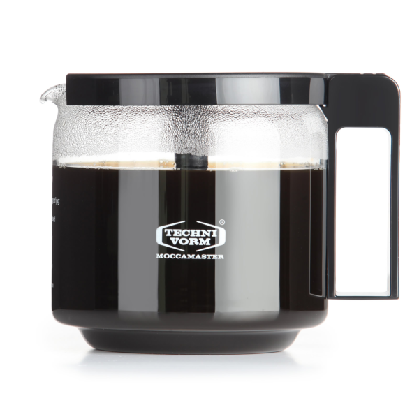 Moccamaster Glass-Jug GCS 1.25 l Black with mixing lid Glazen kan