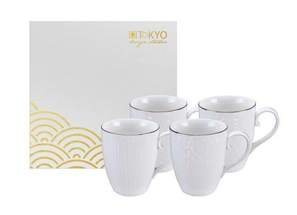 Giftbox, Nippon White mug set /4