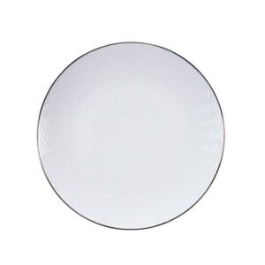 Nippon White bord 25 cm Wave