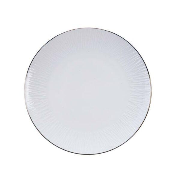Nippon White bord 25 cm Lines