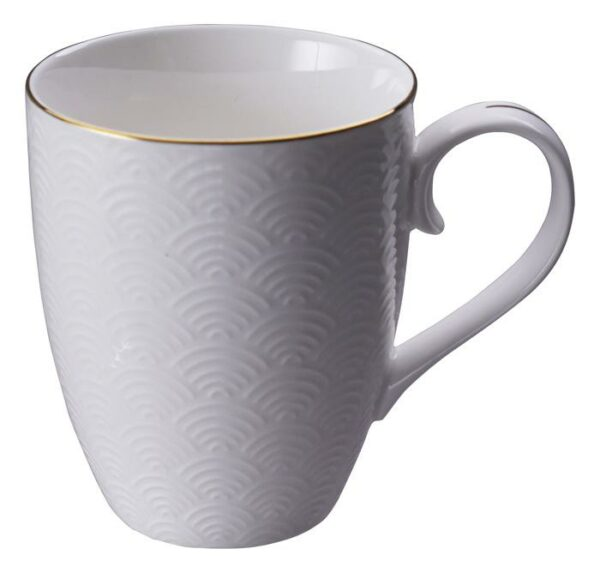 Nippon White Mug 8.5x10.2cm Wave