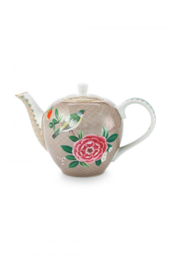 Tea Pot Small Blushing Birds Khaki 750ml PIP