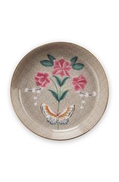 Tea Tip Blushing Birds Khaki 9cm