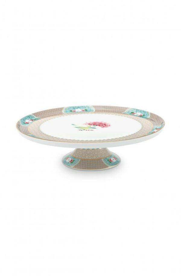 Cake Tray Blushing Birds Khaki 30.5cm PIP