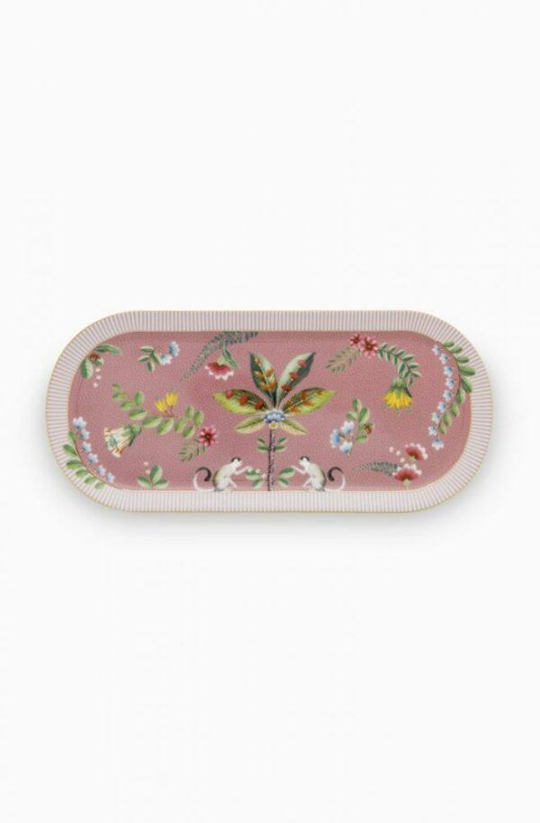 Cake Tray La Majorelle Pink 33.3x15.5cm PIP