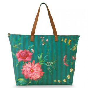 Beach Bag Fleur Grandeur Green