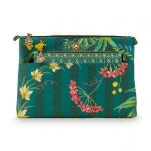Cosm. Bag Combi Fleur Grandeur Green PIP