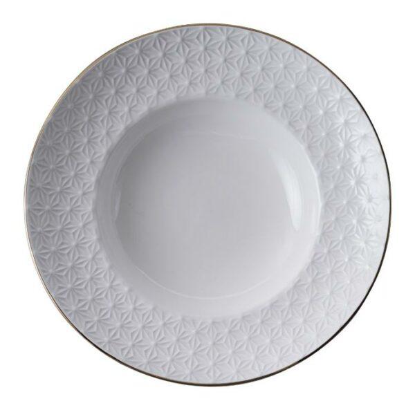 Nippon White Deep Plate 21cm, 160ml, Star