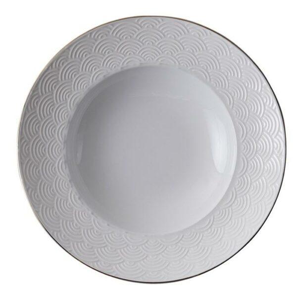 Nippon White Deep Plate 21cm, 160ml, Wave