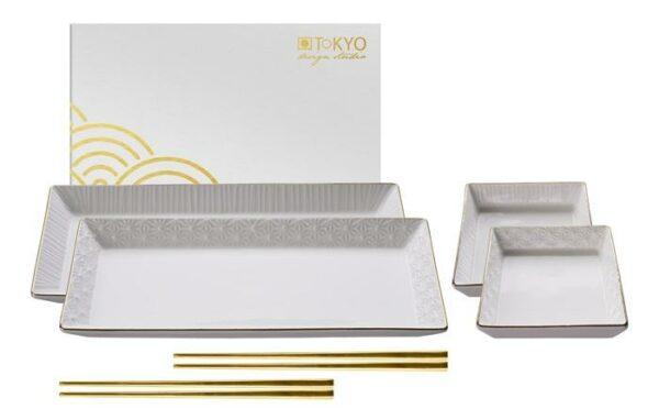 Nippon White Sushi Plate Set giftbox /1