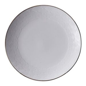 Nippon White Plate 16.5 cm Lines