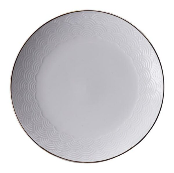 Nippon White Plate 16.5 cm Wave
