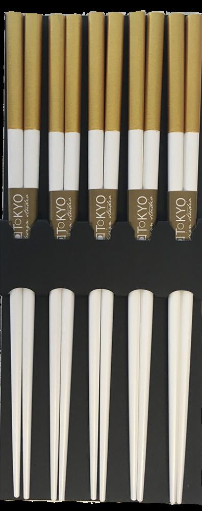 Chopstick Set/5 Nippon White-Gold