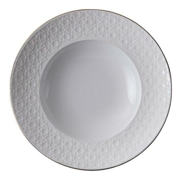 Nippon White Deep Plate 21cm, 160ml, Stripe