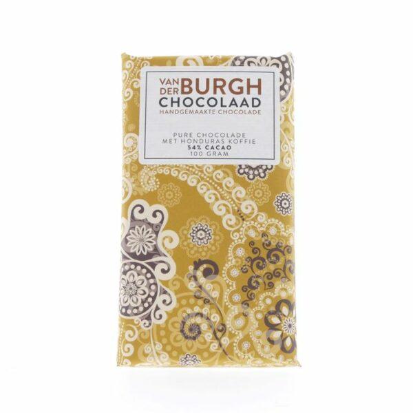 Pure chocolade met Honduras koffie 100g Van der Burgh Chocolaad
