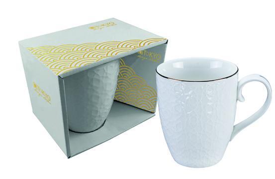 Nippon White Mug 380ml, Stripe, giftbox