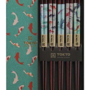 Chopstick Set/5 Goldfish, giftbox