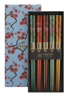 Chopstick Set/5 Sakura, giftbox