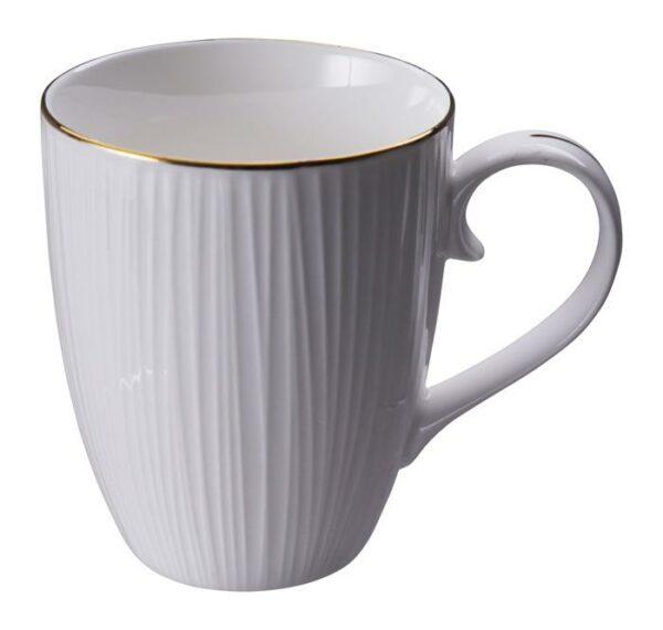 Nippon White Mug 8.5x10.2cm Lines