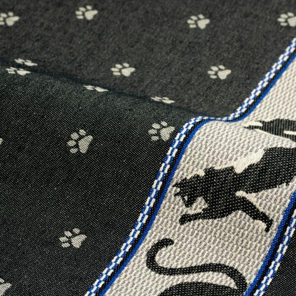 Tea Towel Bunzlau Cats 65x65cm, black