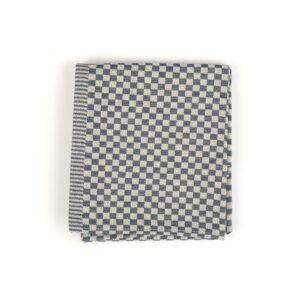 Tea Towel Bunzlau Small Check 65x65cm, blue