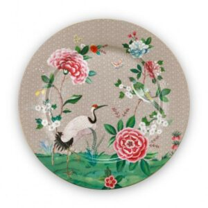 Plate Blushing Birds Khaki