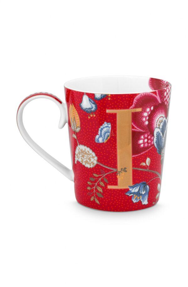 Alphabet Mug Blushing Birds Red I