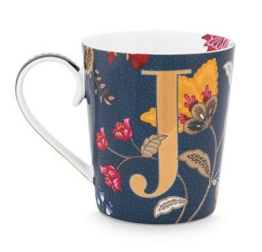 Alphabet Mug Floral Fantasy Blue J