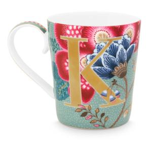 Alphabet Mug Floral Fantasy Light Blue K