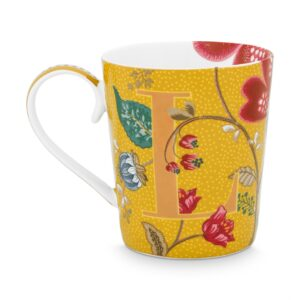 Alphabet Mug Blushing Birds Yellow L