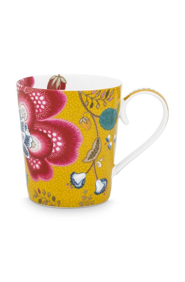 Alphabet Mug Blushing Birds Yellow L