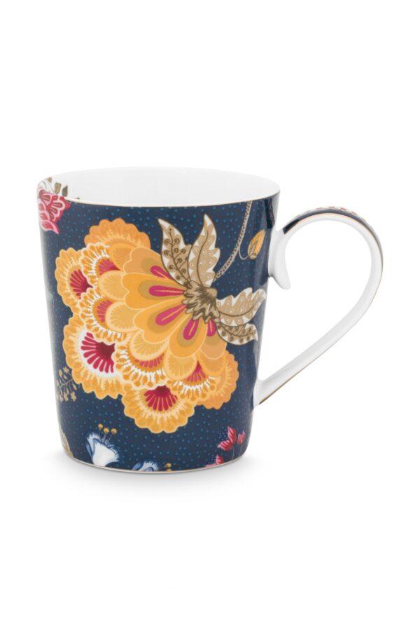Alphabet Mug Floral Fantasy Blue P