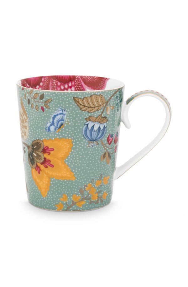 Alphabet Mug Floral Fantasy Light Blue Q