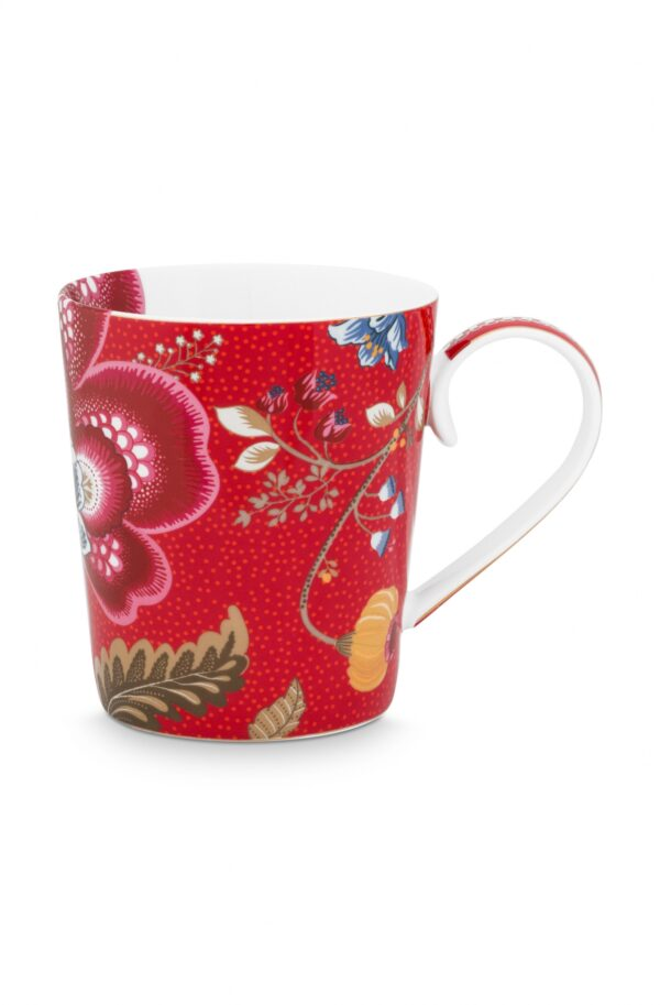 Alphabet Mug Blushing Birds Red U