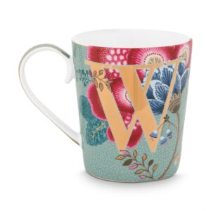 Alphabet Mug Floral Fantasy Light Blue W
