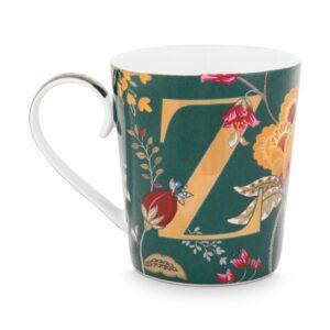 Alphabet Mug Floral Fantasy green Z