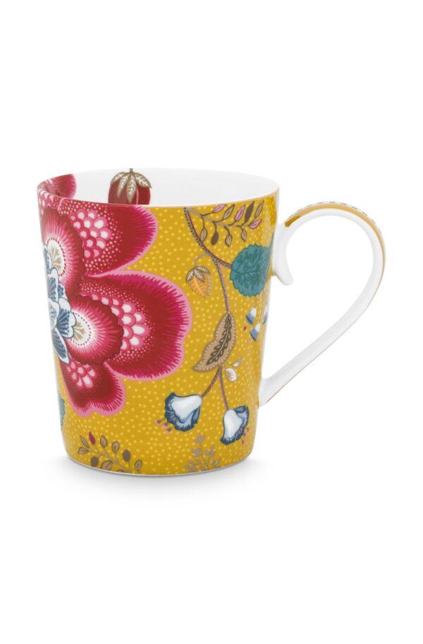 Alphabet Mug Blushing Birds Yellow X
