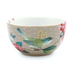 Bowl Blushing Birds Khaki