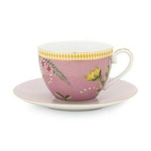 Cup & Saucer La Majorelle Pink