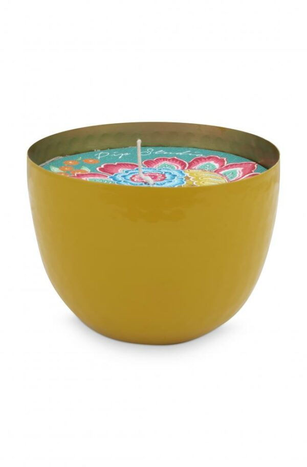 Cup with Candle Yellow