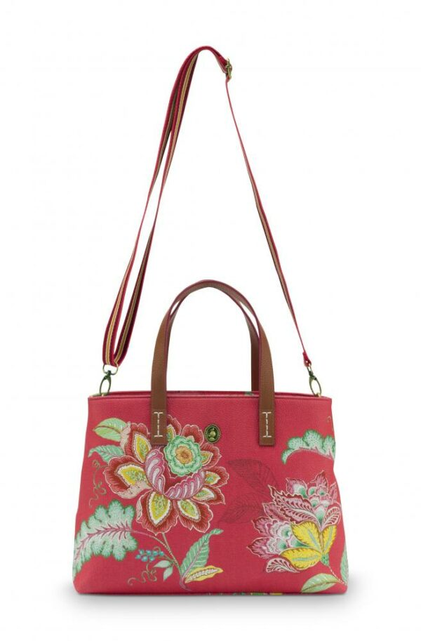 Shopper Small Jambo Flower Red