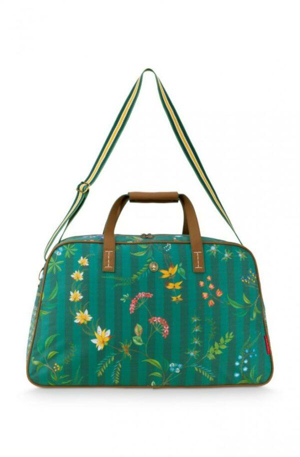 Weekend Bag Medium Fleur Grandeur Green 57x22x37cm