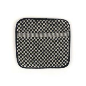 Potholder Bunzlau Small Check 23x20cm, black