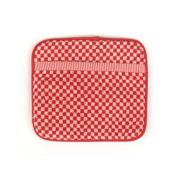 Potholder Bunzlau Small Check 23x20cm, red