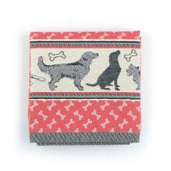 Kitchen Towel Bunzlau Dogs 53x60cm, red
