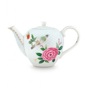 Tea Pot Small Blushing Birds White 750ml