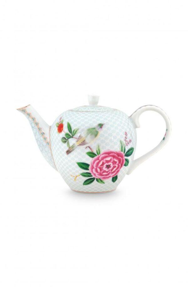 Tea Pot Small Blushing Birds White 750ml