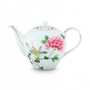 Tea Pot Large Blushing Birds White 1.6ltr PIP